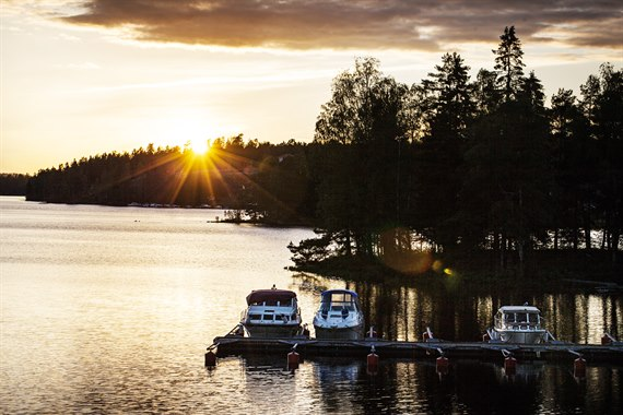 Dawn over Dalsland canal
